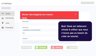 bob desk - visuel plateforme GMAO web - maintenance dépannage technique - tellement simple, pas besoin de tuto